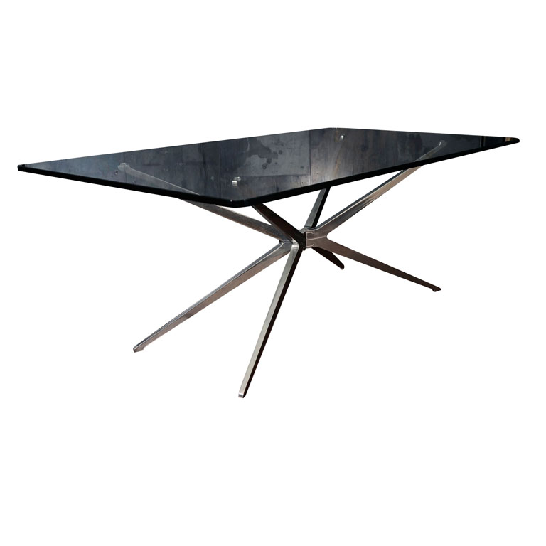 Aluminum Spider Leg Coffee Table, Made In Italy